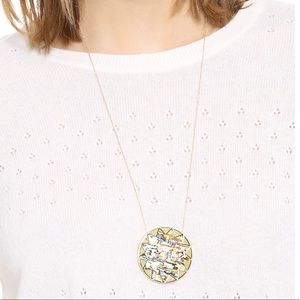 House of Harlow Large Abalone Sunburst Necklace